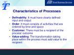 characteristics of processes