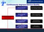 continuously improve service quality