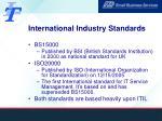 international industry standards