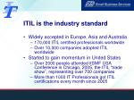 itil is the industry standard