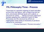 itil philosophy three process