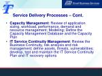 service delivery processes cont