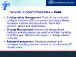 service support processes cont
