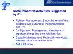 some proactive activities suggested by itil