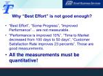 why best effort is not good enough