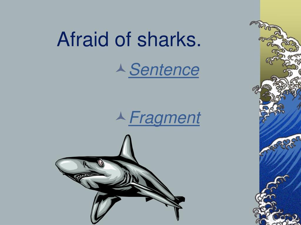 Afraid of sharks.