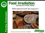will irradiated food be more expensive