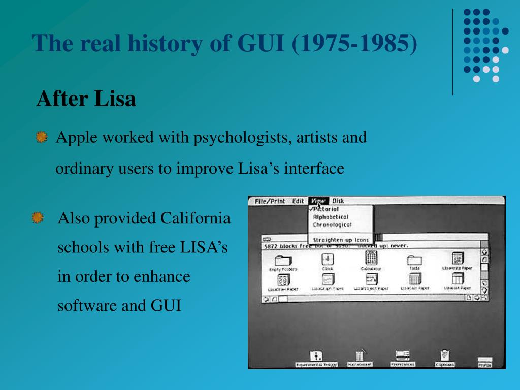 PPT - The Real History of The GUI PowerPoint Presentation