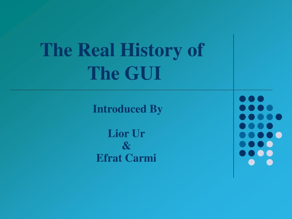 the real history of the gui l.