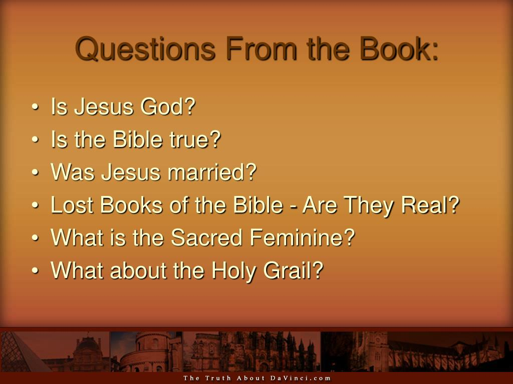 Questions From the Book: