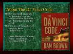 about the da vinci code5