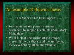 an example of brown s thesis
