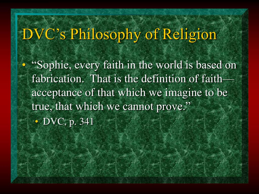 DVC's Philosophy of Religion
