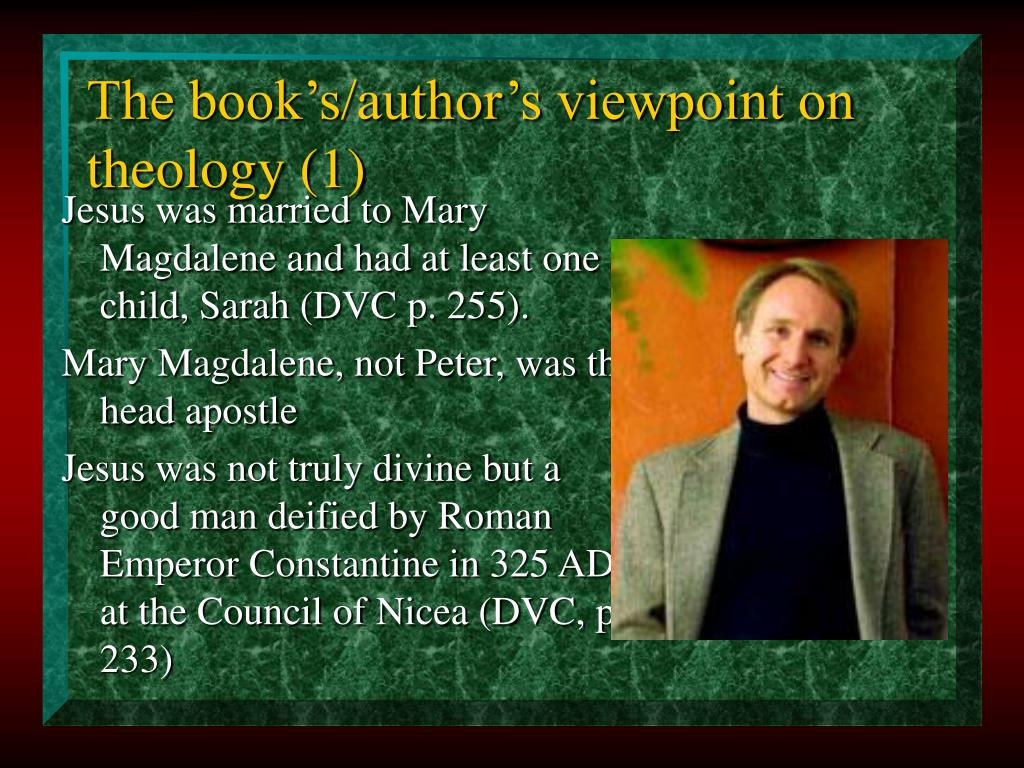 The book's/author's viewpoint on theology (1)