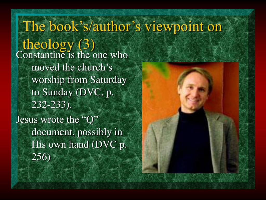 The book's/author's viewpoint on theology (3)
