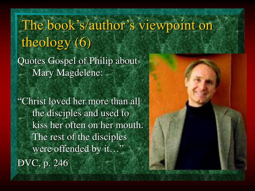 The book's/author's viewpoint on theology (6)
