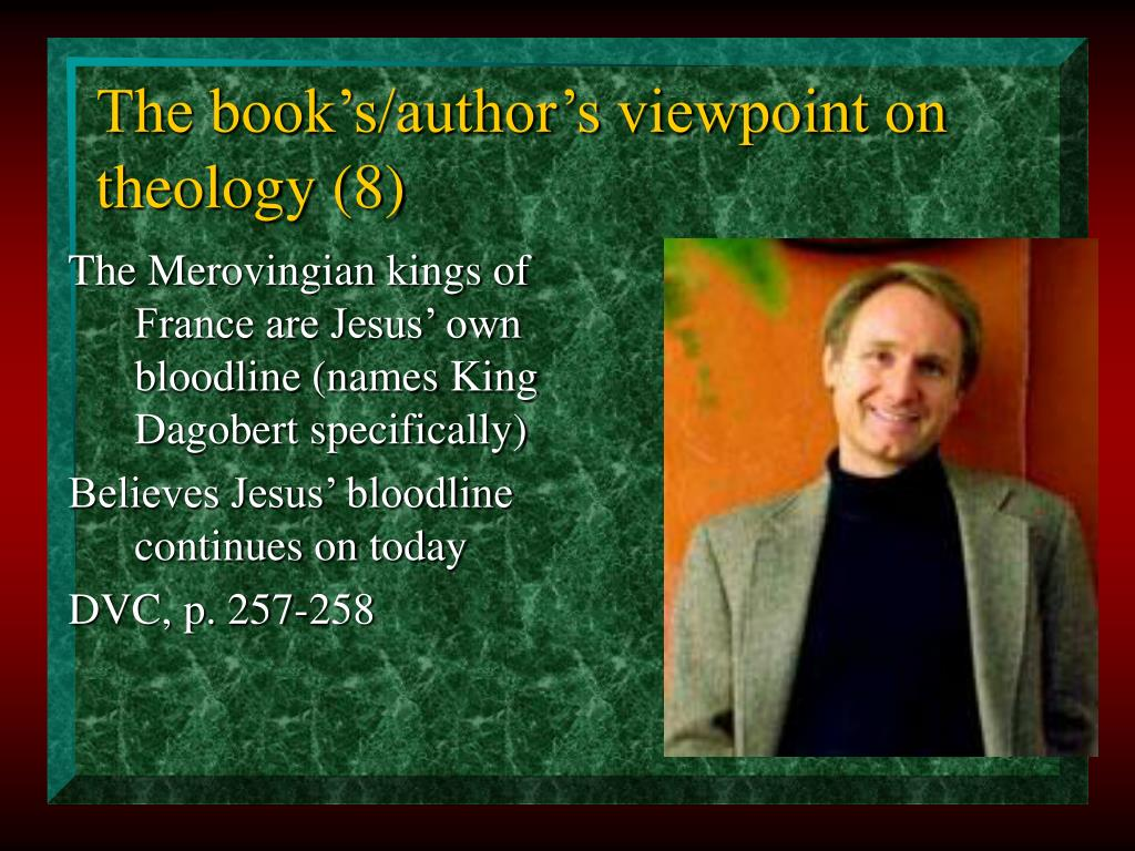 The book's/author's viewpoint on theology (8)