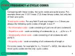 f requency of cyclic codes