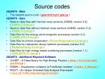 source codes