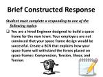 brief constructed response