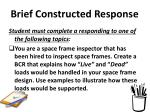 brief constructed response32