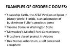 examples of geodesic domes