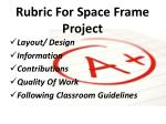 rubric for space frame project