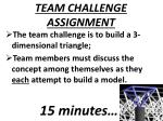 team challenge assignment