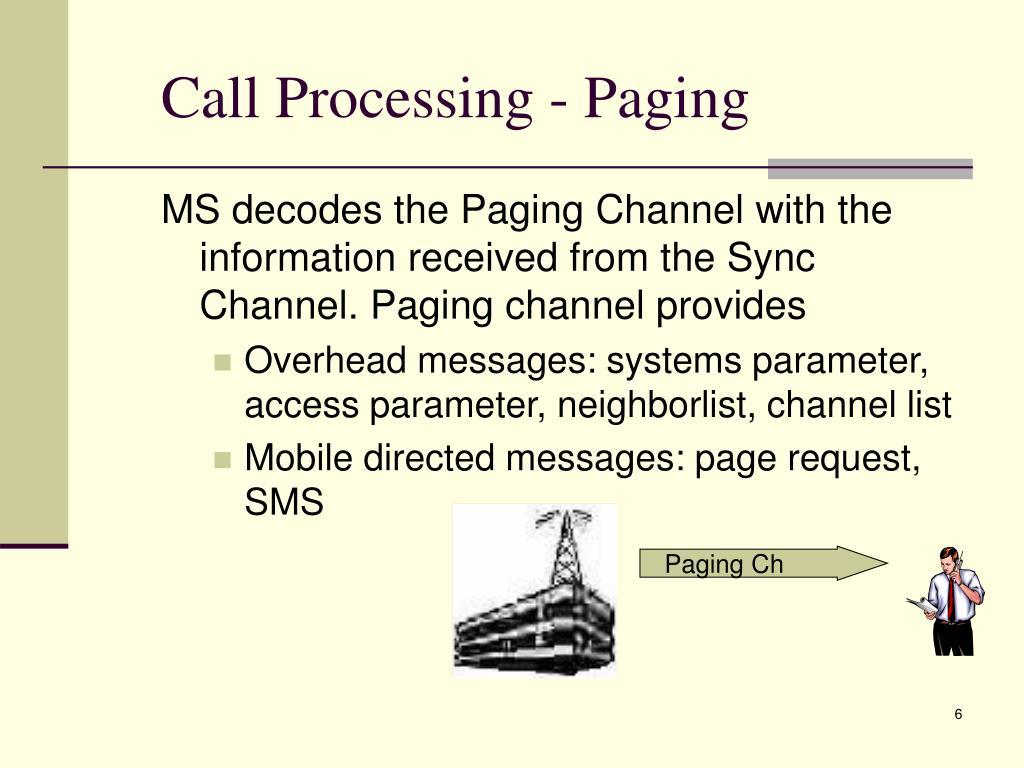 Call Processing - Paging