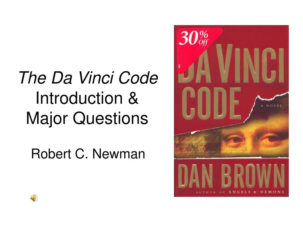 the da vinci code introduction major questions l.