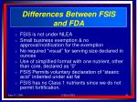 differences between fsis and fda