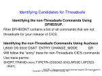identifying candidates for threadsafe67