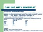 calling with inmarsat