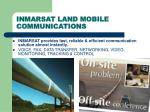 inmarsat land mobile communications