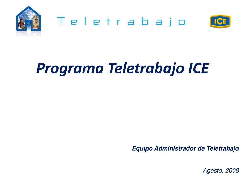 programa teletrabajo ice l.