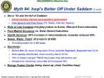myth 4 iraqi s better off under saddam 1 of 2