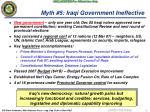 myth 5 iraqi government ineffective