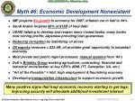 myth 6 economic development nonexistent
