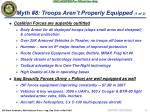 myth 8 troops aren t properly equipped 1 of 2