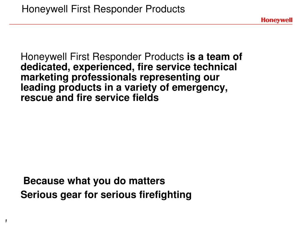 honeywell first responder products l.