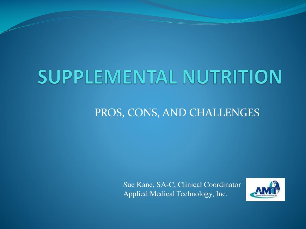 Ppt Supplemental Nutrition Powerpoint Presentation Id 226008