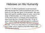 hebrews on his humanity