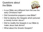 questions about the bible