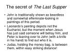 the secret of the last supper