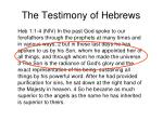 the testimony of hebrews