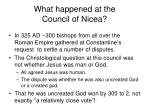 what happened at the council of nicea
