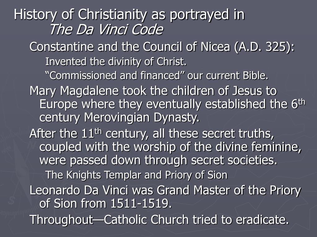 History of Christianity as portrayed in