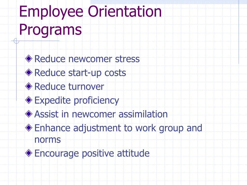 Employee Orientation Programs