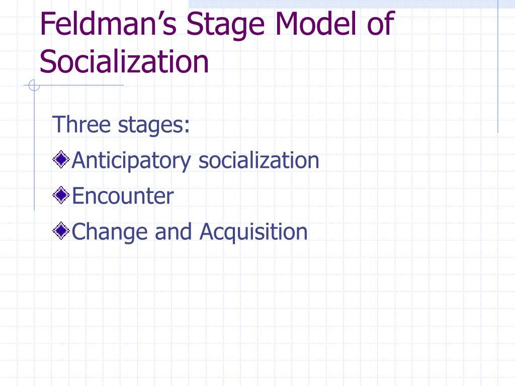 Feldman's Stage Model of Socialization