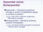 sequential versus nonsequential